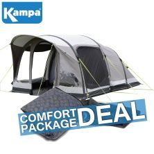 Kampa  Brean 4 Classic Air Pro Familienzelt (COMFORT PACKAGE DEAL)